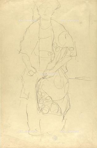 IMA-F-622392-0000 - Studio for female portrait, pencil on paper, Gustav Klimt (1862-1918), Wien Museum, Vienna - Imagno/Alinari Archives