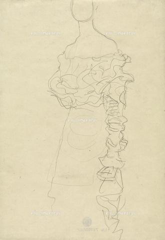 IMA-F-622393-0000 - Studio for female portrait, pencil on paper, Gustav Klimt (1862-1918), Wien Museum, Vienna - Imagno/Alinari Archives