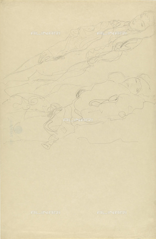 IMA-F-622396-0000 - Half-naked women, pencil on paper, Gustav Klimt (1862-1918), Wien Museum, Vienna - Imagno/Alinari Archives