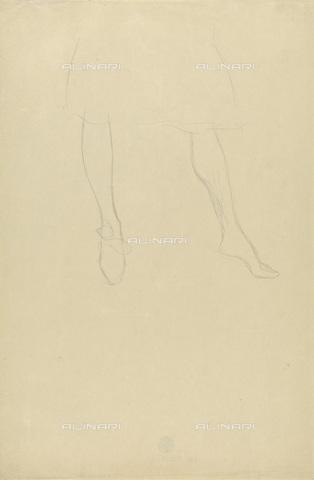 IMA-F-622397-0000 - Female legs, pencil on paper, Gustav Klimt (1862-1918), Wien Museum, Vienna - Imagno/Alinari Archives