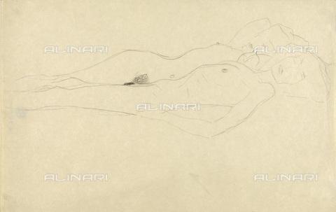 IMA-F-622400-0000 - Naked women, pencil on paper, Gustav Klimt (1862-1918), Wien Museum, Vienna - Imagno/Alinari Archives