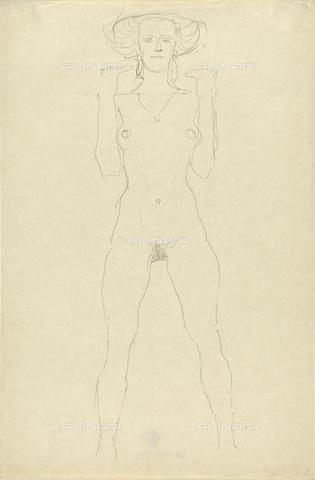 IMA-F-622401-0000 - Female nude standing, pencil on paper, Gustav Klimt (1862-1918), Wien Museum, Vienna - Imagno/Alinari Archives