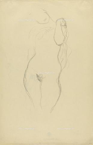 IMA-F-622403-0000 - Female nude standing, pencil on paper, Gustav Klimt (1862-1918), Wien Museum, Vienna - Imagno/Alinari Archives
