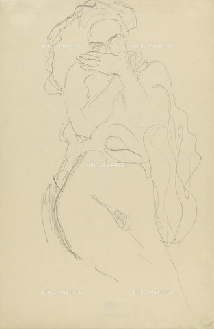 IMA-F-622406-0000 - Female nude standing, pencil on paper, Gustav Klimt (1862-1918), Wien Museum, Vienna - Imagno/Alinari Archives