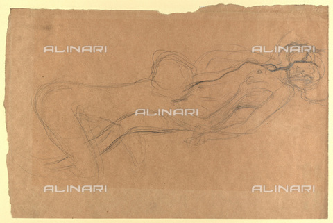 IMA-F-622408-0000 - Two naked women, pencil on paper, Gustav Klimt (1862-1918), Wien Museum, Vienna - Imagno/Alinari Archives