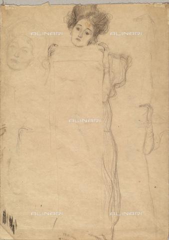 IMA-F-622409-0000 - Study of a female figure, pencil on paper, Gustav Klimt (1862-1918), Wien Museum, Vienna - Imagno/Alinari Archives