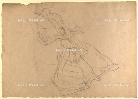 IMA-F-622410-0000 - Study of a female figure, pencil on paper, Gustav Klimt (1862-1918), Wien Museum, Vienna - Imagno/Alinari Archives
