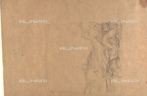 IMA-F-622411-0000 - Sketch for the painting Irrlichter, pencil on paper, Gustav Klimt (1862-1918), Wien Museum, Vienna - Imagno/Alinari Archives