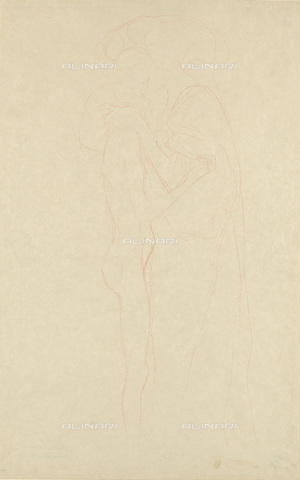 IMA-F-622412-0000 - Two women embraced, pencil on paper, Gustav Klimt (1862-1918), Wien Museum, Vienna - Imagno/Alinari Archives