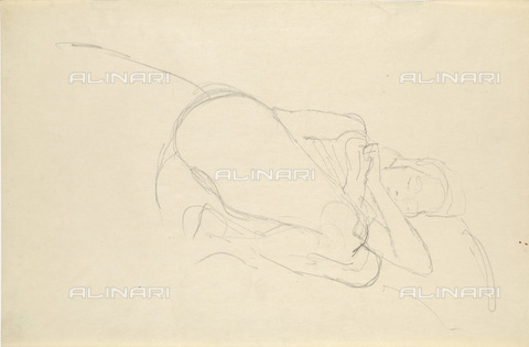 IMA-F-622413-0000 - Female nude, pencil on paper, Gustav Klimt (1862-1918), Wien Museum, Vienna - Imagno/Alinari Archives