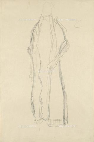 IMA-F-622414-0000 - Study for long dress, pencil on paper, Gustav Klimt (1862-1918), Wien Museum, Vienna - Imagno/Alinari Archives