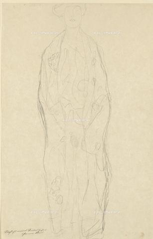 IMA-F-622415-0000 - Studio for female portrait, pencil on paper, Gustav Klimt (1862-1918), Wien Museum, Vienna - Wien Museum / Imagno/Alinari Archives