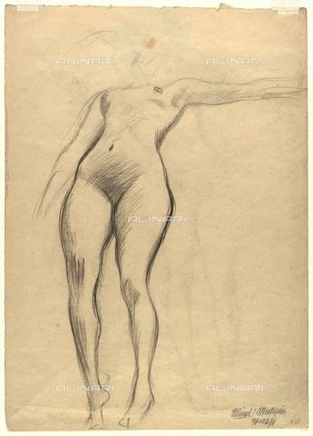 IMA-F-622416-0000 - Female nude, pencil on paper, Gustav Klimt (1862-1918), Wien Museum, Vienna - Imagno/Alinari Archives