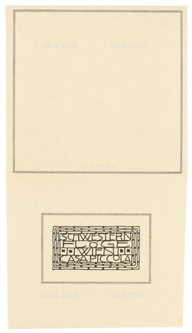IMA-F-622546-0000 - Envelope of the fashion house Schwestern Floge, designed by Gustav Klimt (1862-1918) - Austrian Archives / Imagno/Alinari Archives