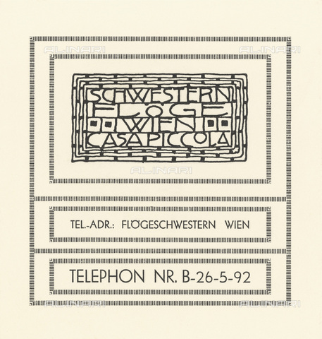 IMA-F-622547-0000 - Letterhead of the fashion house Schwestern Floge, designed by Gustav Klimt (1862-1918) - Austrian Archives / Imagno/Alinari Archives