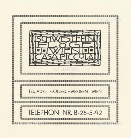 IMA-F-622547-0000 - Carta intestata della casa di moda Schwestern Floge, disegnata da Gustav Klimt (1862-1918) - Imagno/Archivi Alinari, Austrian Archives