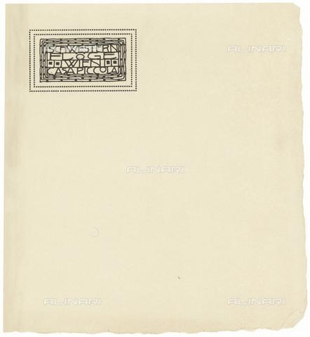 IMA-F-622548-0000 - Letter paper of the fashion house Schwestern Floge, designed by Gustav Klimt (1862-1918) - Austrian Archives / Imagno/Alinari Archives