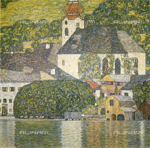 IMA-F-623349-0000 - Church in Unterach on Lake Attersee, oil on canvas, Gustav Klimt (1862-1918), Private Collection - Austrian Archives / Imagno/Alinari Archives