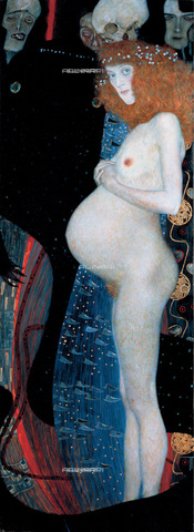 IMA-F-623389-0000 - Hope I, oil on canvas, Gustav Klimt (1862-1918), National Gallery of Canada, Ottawa - Imagno/Alinari Archives