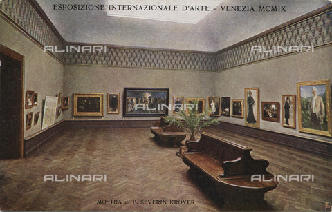 IMA-F-662536-0000 - International Art Biennial of 1909 in Venice: exhibition by Severin Kroyer. Postcard - Data dello scatto: 1909 - Archiv Dr. Samsinger / Imagno/Alinari Archives