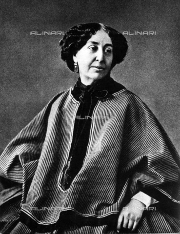 INT-F-044710-0000 - Portrait of George Sand, a feminist writer also remembered for his love affairs with the writer Alfred de Musset and the composer Frederic Chopin - Data dello scatto: 1865 ca. - Sammlung Rauch / Interfoto/Alinari Archives