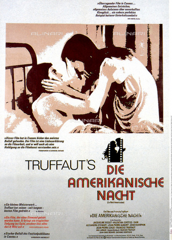 "INT-F-168381-0000 - Poster of the film ""Die Amerikanische Nacht"" (Night Effect) by Francois Truffaut of 1973 with Valentina Cortese - Data dello scatto: 1973 - Friedrich / Interfoto/Alinari Archives"