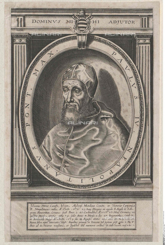 INT-S-003534-7076 - Portrait of Pope Paul IV (1476-1559) - Austrian National Library / Interfoto/Alinari Archives