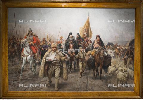 INT-S-003611-7688 - Il popolo del Kosovo (Cossovo) in marcia, olio su tela, Paja Jovanovic - Danita Delimont / Russell Gordon / Interfoto/Archivi Alinari