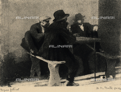 KRQ-F-001309-0000 - A furtive rest - Date of photography: 1925-1935 ca. - Fratelli Alinari Museum Collections, Florence