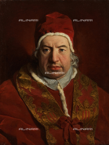 LCA-F-005304-0000 - Portrait of Pope Benedict XIV (1675-1758), oil on canvas, Pierre Hubert Subleyras (1699-1749) - Liszt Collection/Alinari Archives