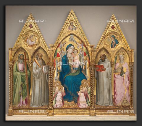 LCA-F-005308-0000 - Madonna enthroned with angels and saints, tempera on panel, Agnolo Gaddi (c. 1350-1396), National Gallery of Art, Washington - Artokoloro / Liszt Collection/Alinari Archives