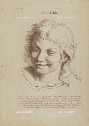 LCA-F-005314-0000 - Laughter, engraving, unknown artist of the second half of the eighteenth century after Charles Le Brun (1619-1690) - Quint Lox Limited / Liszt Collection/Alinari Archives