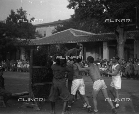 LLA-F-000092-0000 - Achille Starace (1889-1945) ritratto durante una manifestazione sportiva - Data dello scatto: 1929 - Archivio Luigi Leoni / Archivi Alinari