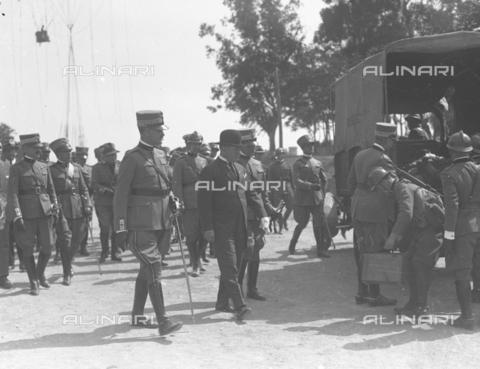 LLA-S-000MM1-0002 - Benito Mussolini (1883-1945) alle manovre terrestri in Abruzzo - Data dello scatto: 1926 - Archivio Luigi Leoni / Archivi Alinari