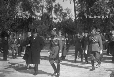 LLA-S-00MM29-0004 - Benito Mussolini (1883-1945) all'inaugurazione del Foro Mussolini insieme all'onorevole Renato Ricci (1896-1956), Presidente dell'Opera Nazionale Balilla - Data dello scatto: 04/11/1932 - Archivio Luigi Leoni / Archivi Alinari