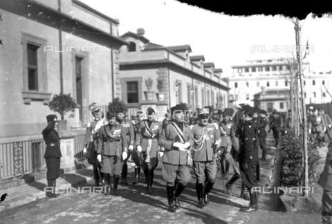 LLA-S-00MM32-0004 - Benito Mussolini (1883-1945) durante la celebrazione dell'anniversario della nascita della Milizia volontaria per la sicurezza nazionale - Data dello scatto: 14/01/1928 - Archivio Luigi Leoni / Archivi Alinari