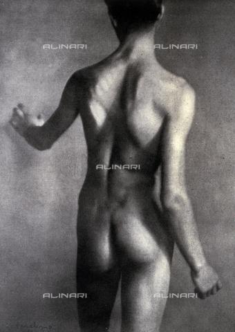 LOB-S-000924-0029 - Nudo virile ripreso da tergo - Data dello scatto: 1923-1924 - Archivi Alinari, Firenze