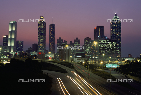 MBA-F-032655-0000 - Skyline di Atlanta in Georgia - Data dello scatto: 01/03/2006 - Rainer Kiedrowski / Bildarchiv Monheim / Archivi Alinari