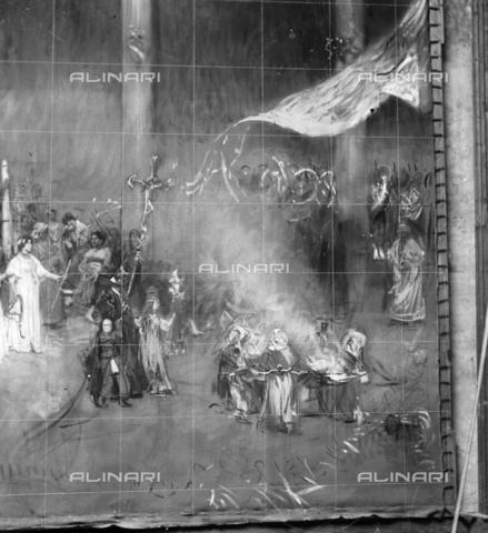 """MFA-S-0SN114-000D - The painting """"Le serpi"""" - Data dello scatto: 1900 ca. - Archivi Alinari, Firenze"""