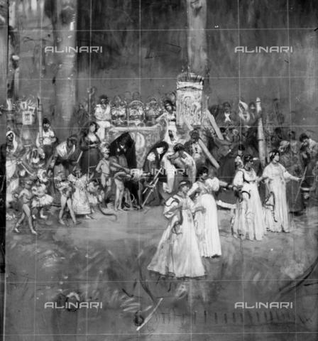"""MFA-S-0SN121-000D - The painting """"Le serpi""""; particular - Data dello scatto: 1900 ca. - Archivi Alinari, Firenze"""