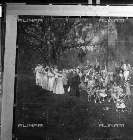 """MFA-S-0SN125-000D - The painting """"Le serpi""""; particular - Data dello scatto: 1900 ca. - Archivi Alinari, Firenze"""