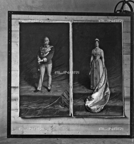 MFA-S-0SN262-000D - Portrait of Umberto I and of Margherita di Savoia - Data dello scatto: 1900 ca. - Archivi Alinari, Firenze