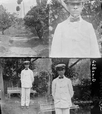 MFA-S-0SN428-000D - Series of portraits of a young man wearing an uniform - Date of photography: 1900 ca. - Alinari Archives-Michetti Archive, Florence