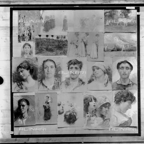 MFA-S-0SN433-000S - Series of portraits and animated scenes - Data dello scatto: 1900 ca. - Archivi Alinari, Firenze