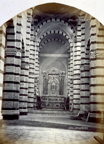 MFC-A-004631-0020 - The interior of the Cathedral in Grosseto - Date of photography: 1863 ca. - Fratelli Alinari Museum Collections-Malandrini Collection, Florence