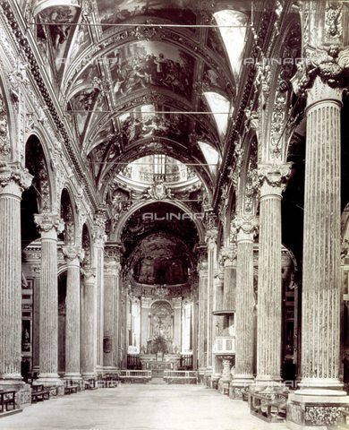 MFC-A-004642-0020 - Interior of the Church of the Santissima Annunziata del Vastato in Genoa - Data dello scatto: 1870-1880 ca. - Archivi Alinari, Firenze