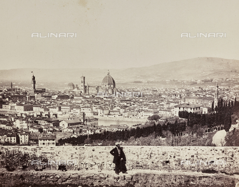 MFC-F-000429-0000 - Firenze. Panorama from S. Miniato - Date of photography: 1862 ca. - Fratelli Alinari Museum Collections-Malandrini Collection, Florence