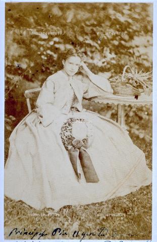 MFC-F-000994-0000 - Ritratto della Principessa Maria Pia di Savoia, Regina del Portogallo dal 1862 - Data dello scatto: 1862 ca. - Archivi Alinari, Firenze