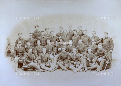 MFC-F-001605-0000 - Group portrait of a military company, of the infantry - Data dello scatto: 1870-1880 ca. - Archivi Alinari, Firenze