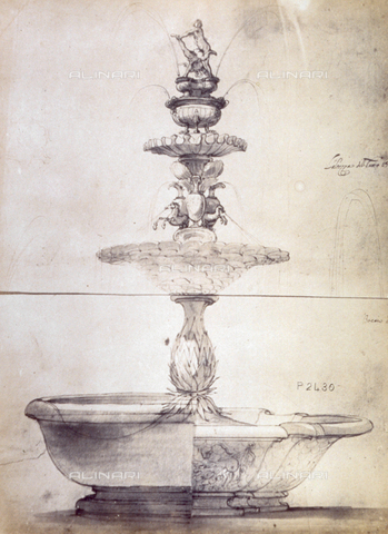 MFC-F-001766-0000 - Study for a fountain by Baccio del Bianco - Data dello scatto: 1865 ca. - Archivi Alinari, Firenze